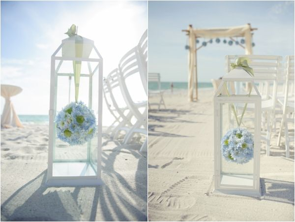 Beach Wedding Ceremony Decorations: Beach Ceremony Decor, Blue And Green Pomanders