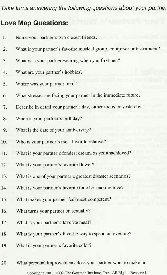 important dating questions