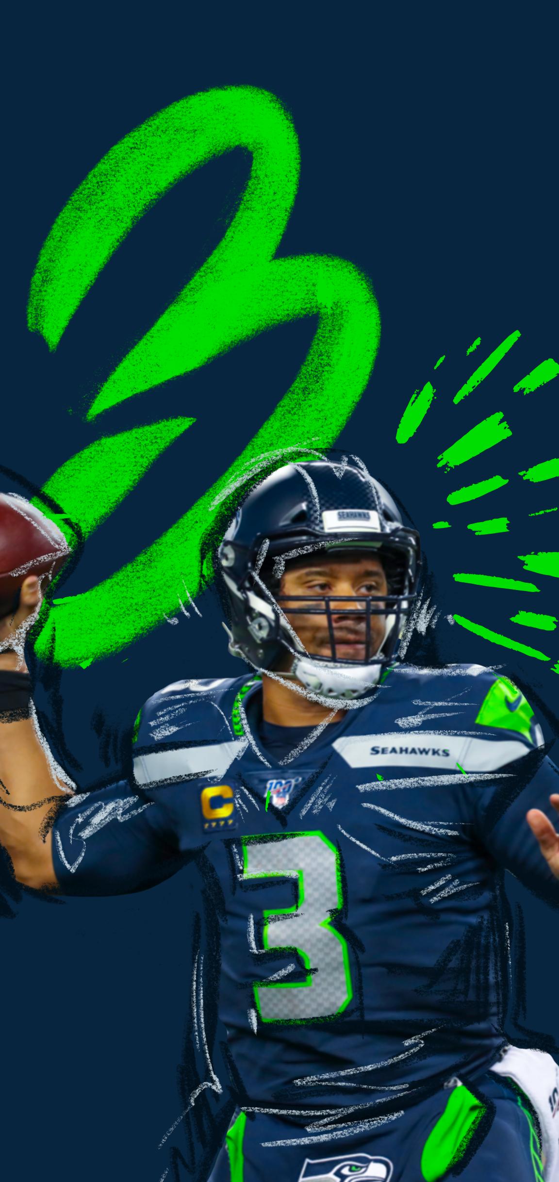 Russell Wilson 3 Seahawks Football Seattle Football Nfl Football Wallpaper