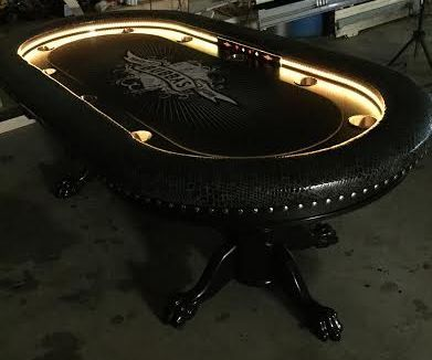 Custom poker table strip lights controller to yellow ...