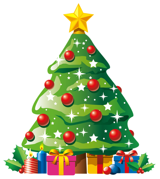 Transparent Deco Christmas Tree With Gifts Clipart Christmas Tree Drawing Christmas Tree Images Animated Christmas Tree