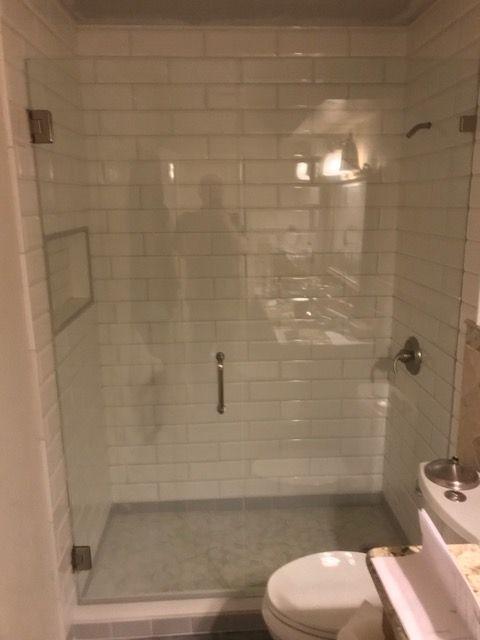 Dallas Bath Glass Inline Door And Panel Frameless 38 Glass