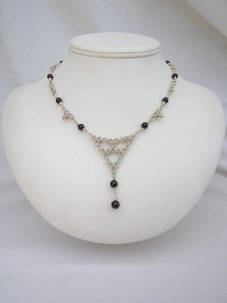 Byzantine Triangle Necklace v2 by chainedoombaby o