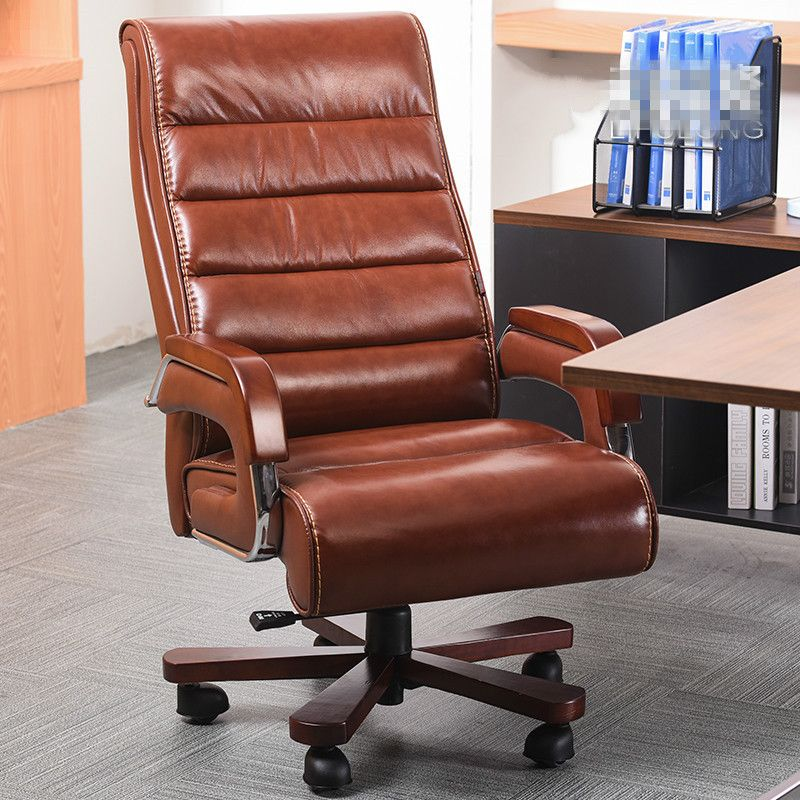 High Quality Ergonomic Leather Wooden Executive Office