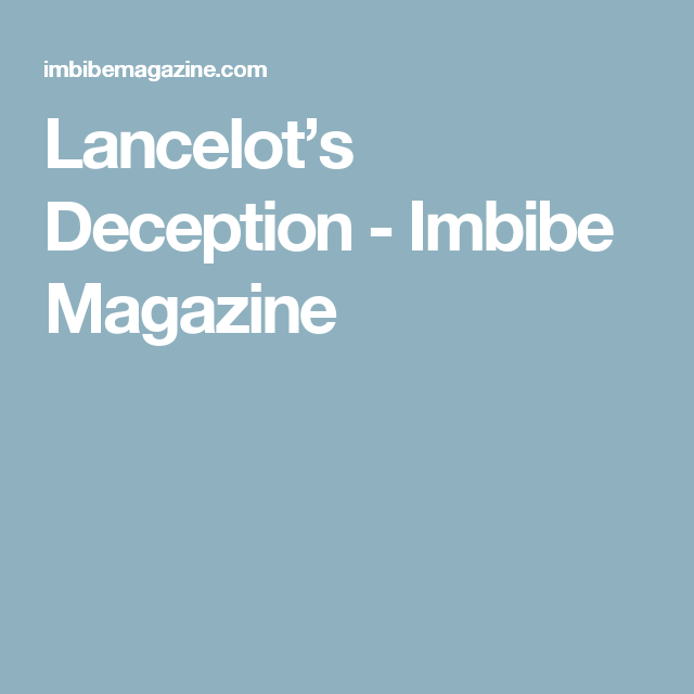Lancelot's Deception - Imbibe Magazine 3/4 oz. genever 3/4 oz. gin 3/4 oz. yellow Chartreuse 1/2 oz. fresh lime juice 4 dashes rhubarb bitters (clickherefor a DIY recipe) Meletti Amaro, to rinse glass (or other Italian amaro, such as Ramozotti) Tools: shaker, strainer, fine strainer Glass: rocks  Rinse glass with amaro and discard excess. Shake remaining ingredients with ice and double strain over fresh ice into glass.