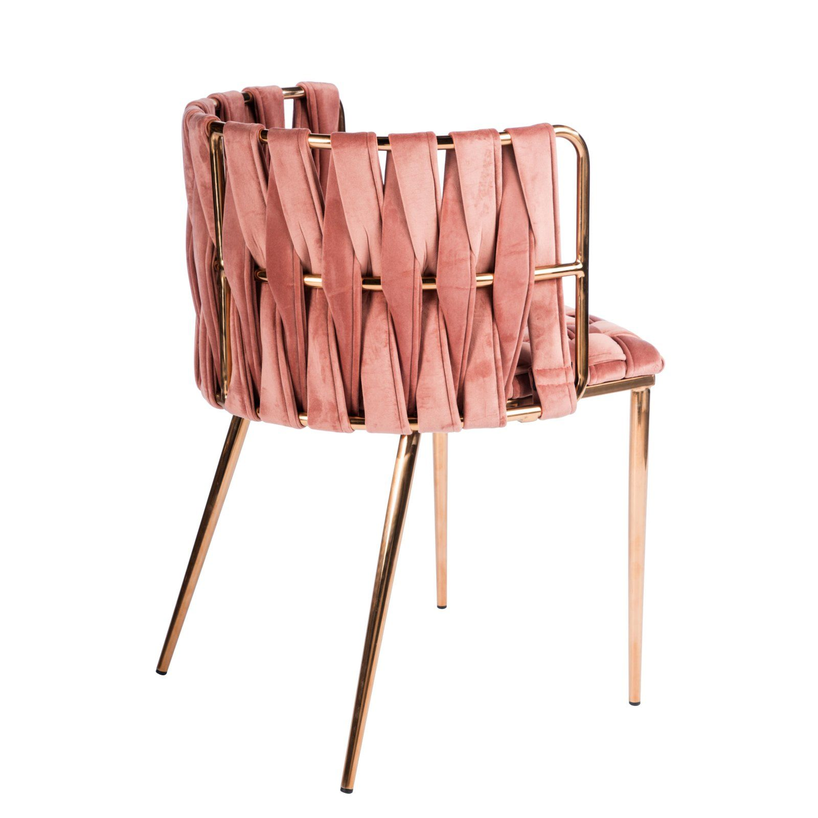 Milano Dining Chair In Rose And Gold Gold Dining Chairs Dining