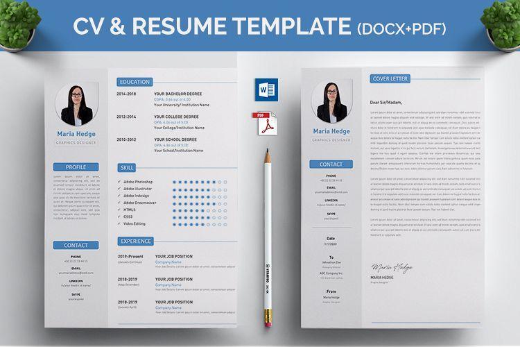 Cv Resume Ms Word Template 409977 Resume Templates Design Bundles Word Template Resume Design Template Cv Resume Template