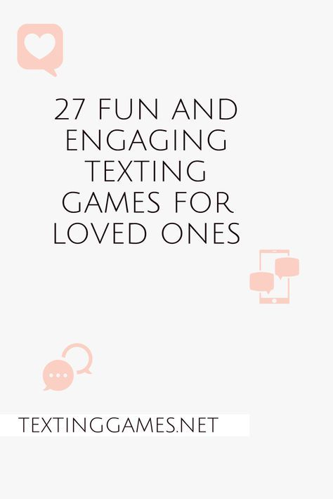 what are some games you can play over texting