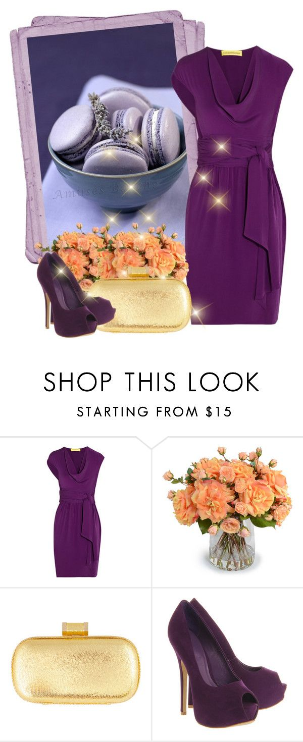 """Purple"" by milica-b3 ❤ liked on Polyvore featuring Catherine Malandrino, New Growth Designs and Office"