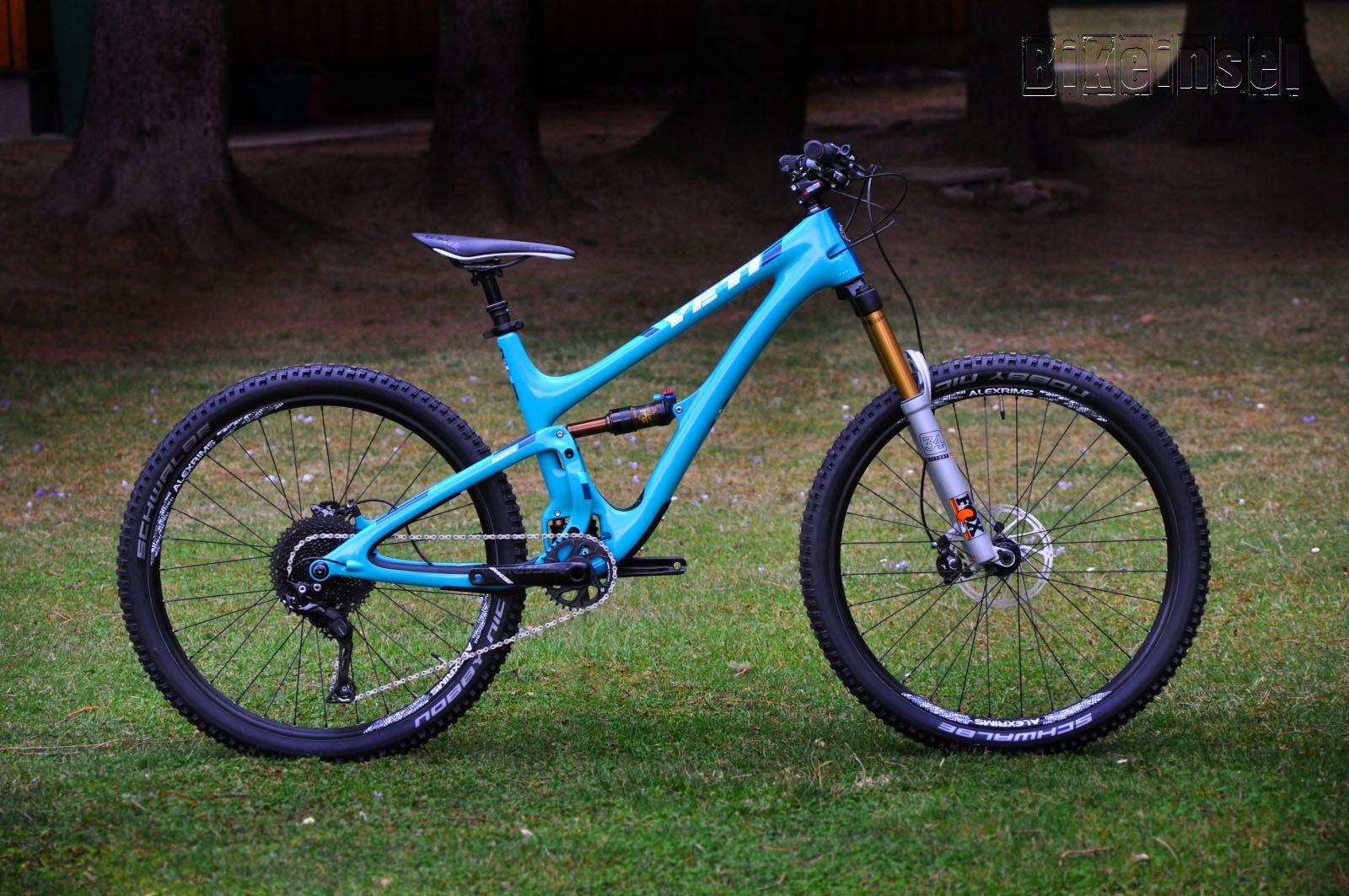 Yeti Sb5 Turq Carbon Switchsilver Custom Bike By Www Bikeinsel