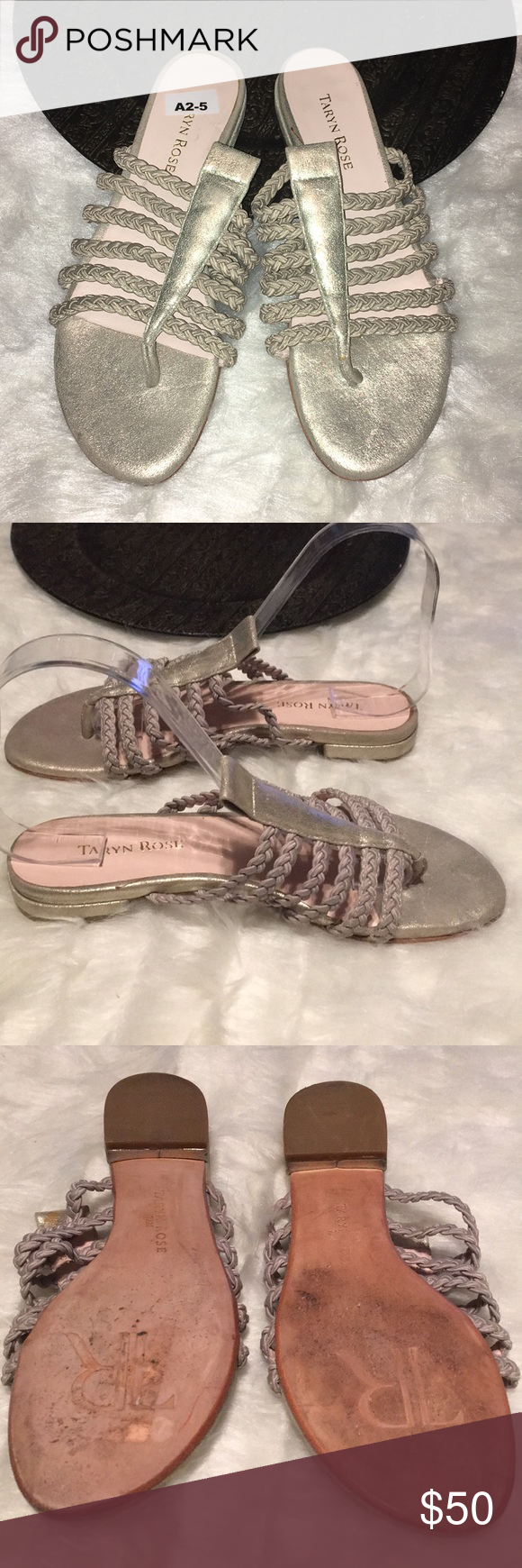 7506e2f4aa3 Taryn rose metallic gold thong sandals 7.5 Braided thong gold slip on Size  7.5 m Minor