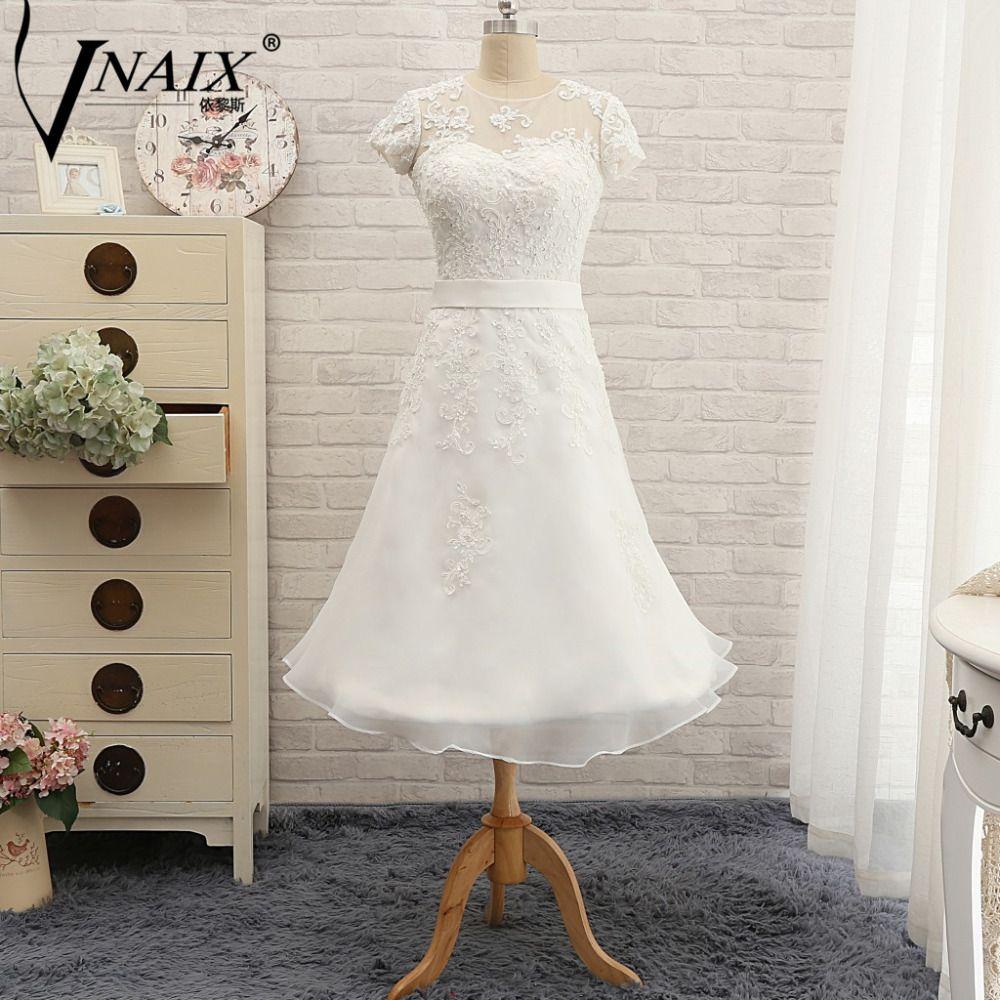 W louisvuigon short wedding dresses a line open back lace
