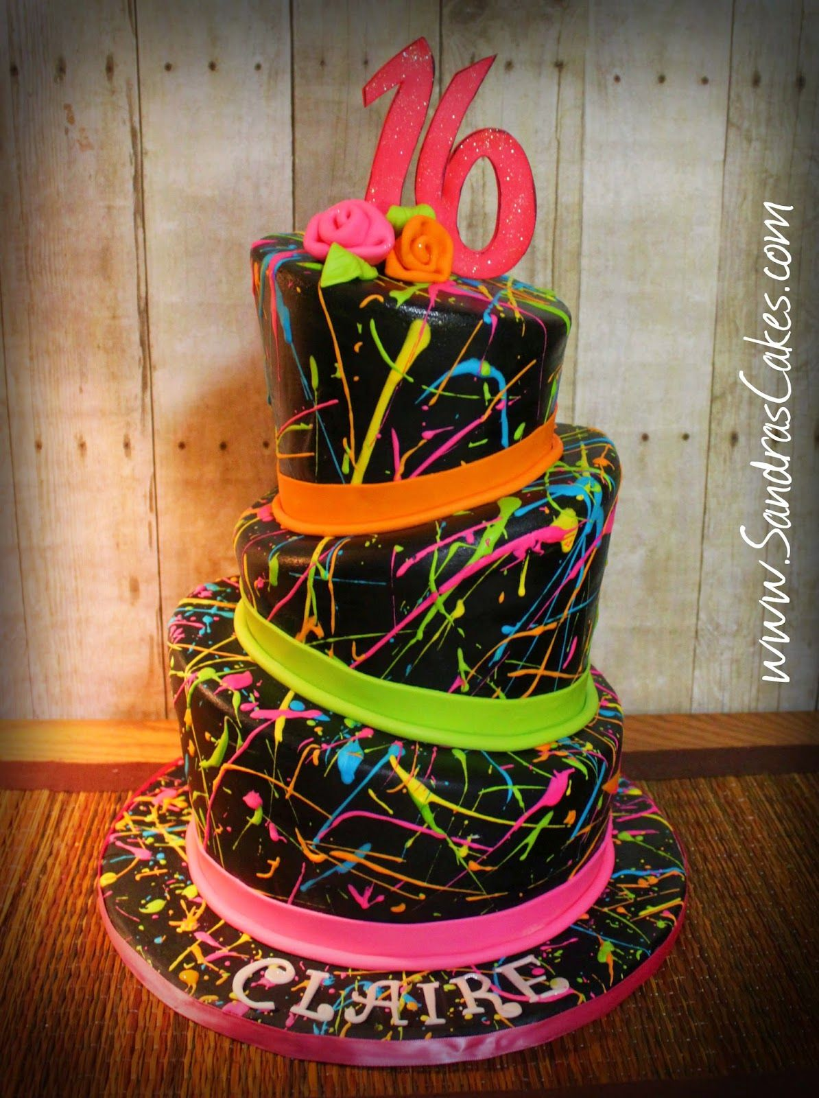 Sandras Cakes Paint Splatter Cake Holidays Special Occasions