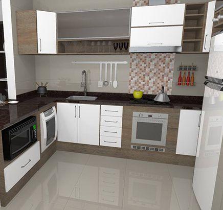 Cozinha Em L Projetos E Fotos Cozinha Planejada Cozinhas