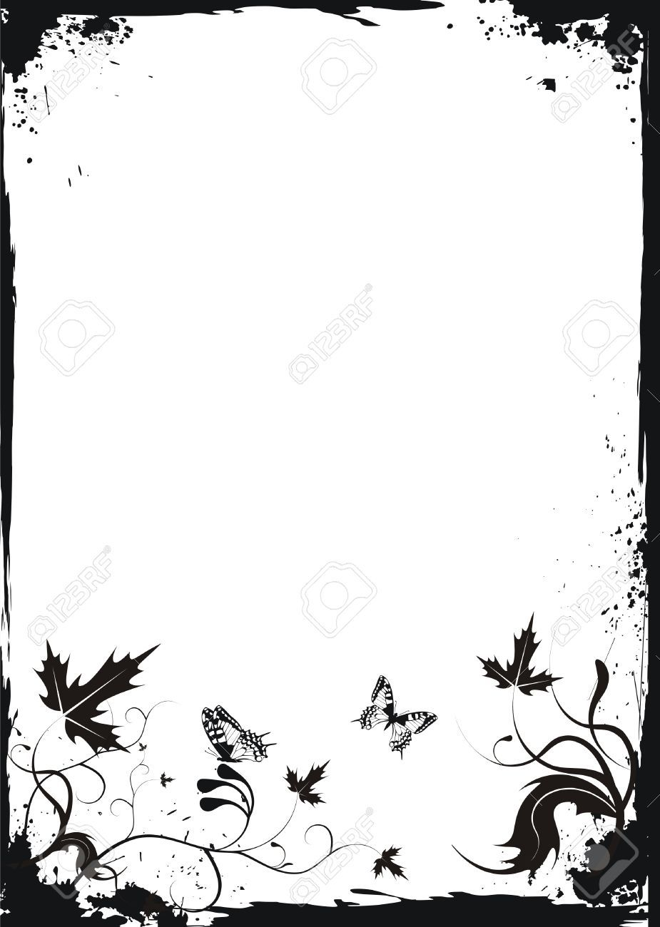 Image Result For Butterfly Border Black And White Laser Engraving