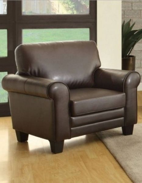 Home Elegance Hume Dark Brown Chair Traditional Bedroom Furniture Brown Furniture Living Room Leather Accent Chair