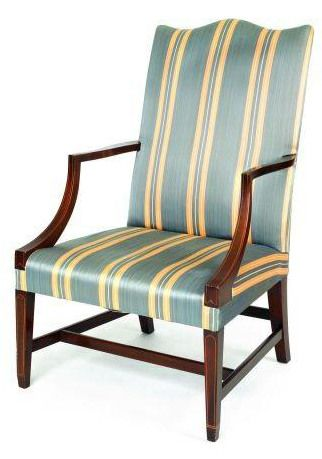 Federal Style Furniture | Federal Style Lolling Chair In Mahogany, A  Reproduction By Kindel