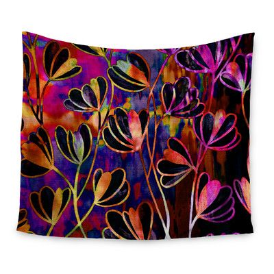 """East Urban Home Efflorescence by Ebi Emporium Wall Tapestry Size: 60"""" H x 80"""" W"""