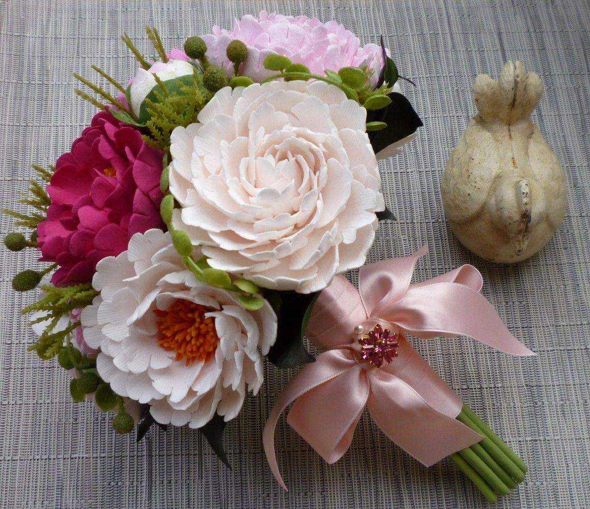 Clay flower bouquet image collections flower wallpaper hd clay flower bouquet wedding pinterest peonies bouquet peony clay flower bouquet izmirmasajfo izmirmasajfo