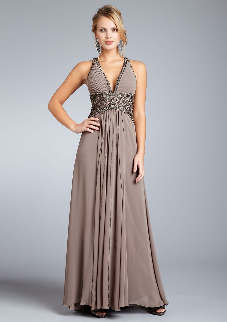 SUE WONG Long Beaded Waist Gown With Sash $159.00 #dress #sue_wong ...