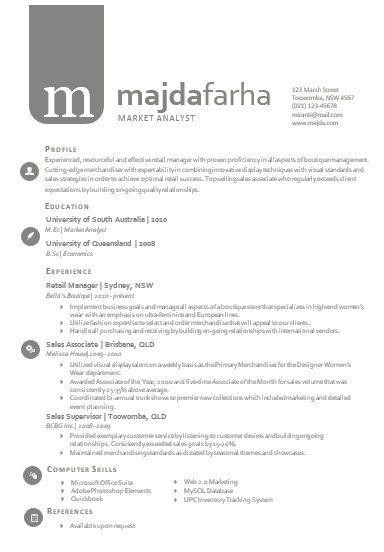 Modern Microsoft Word Resume Template Majda Farha By Inkpower