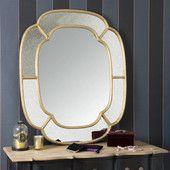 Espejo de metal dorado Valois