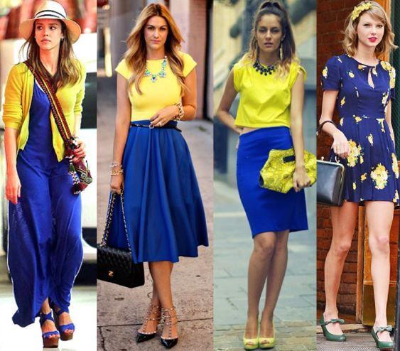 Falda Larga Azul Outfits Azul Marino Azul Electrico Como Combinar Una Falda Larga Azu Con ...