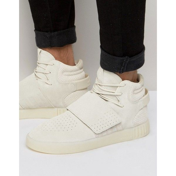 Shop adidas Originals Tubular Invader STR Sneakers In Beige at ASOS.