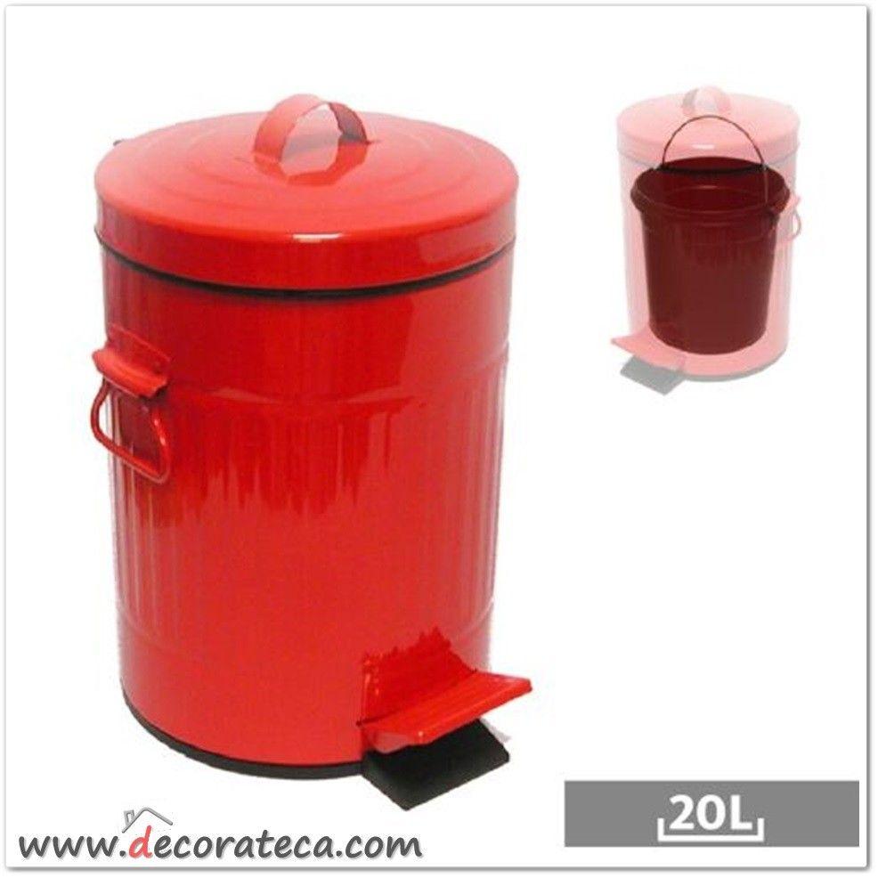 Cubo de basura original retro urban rojo www decorateca com cubos de basura originales - Cubos de basura originales ...