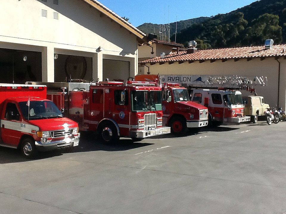 Avalon Fire Department CA Apparatus Bay Consisting Of Engine - Avalon truck