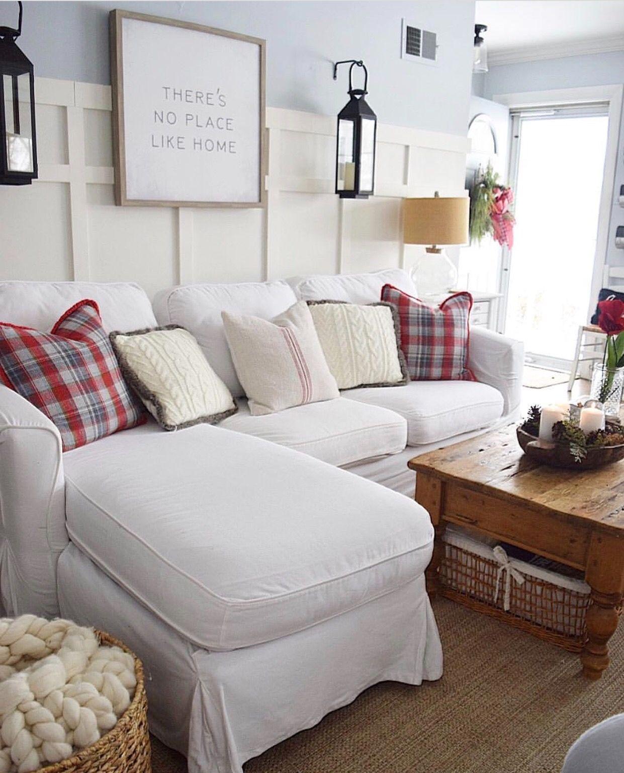 Winter Living Room Winter Living Room Farm House Living Room