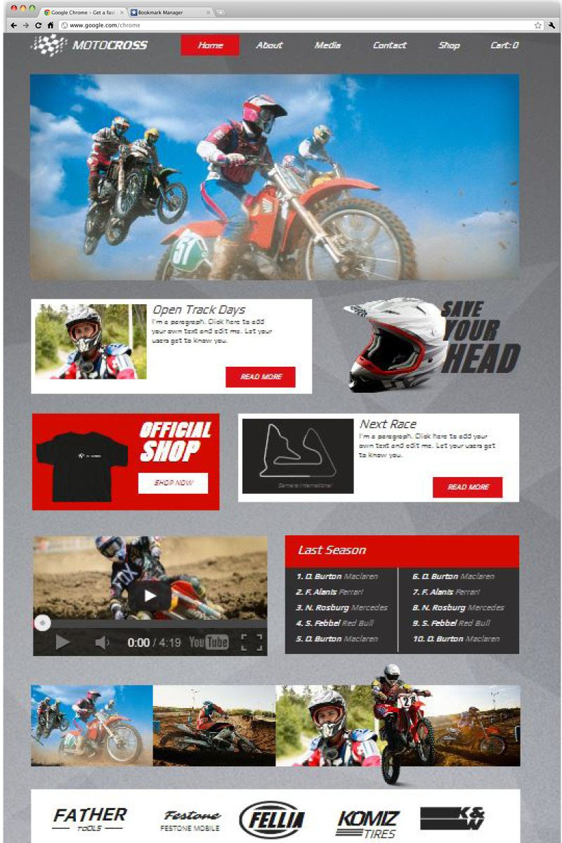 A sleek eCommerce website template ready to promote your team. Pay ...