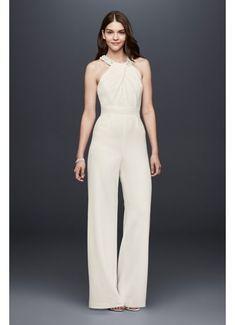 7419c160d096 Long Jumpsuit Modern Chic Wedding Dress - DB Studio