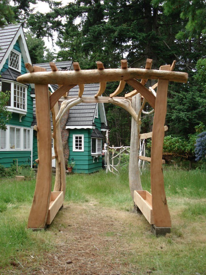driftwood pergola garden pinterest d co. Black Bedroom Furniture Sets. Home Design Ideas