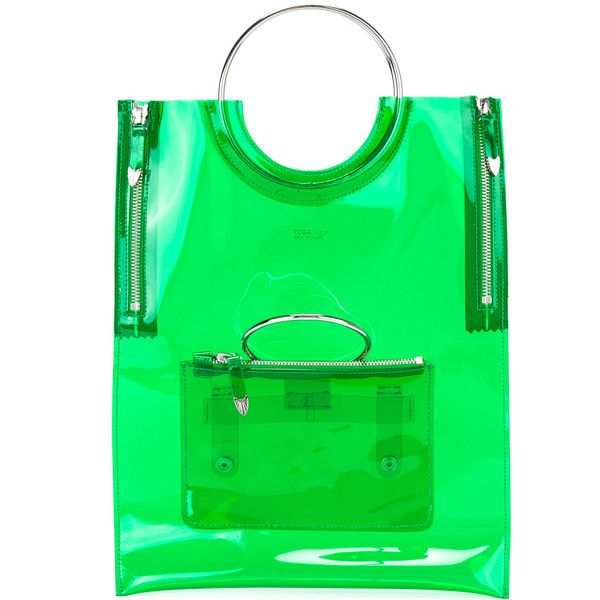 Toga ring handle vinyl tote bag ($420) ❤ liked on Polyvore ...