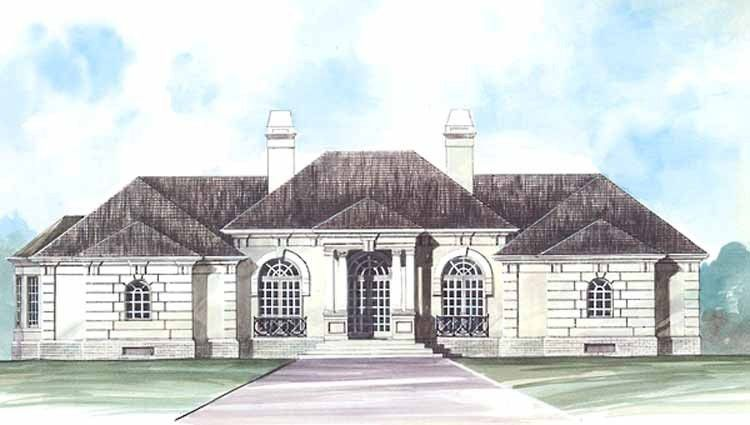 Eplans Mediterranean House Plan Grand One Story 2588 Square Feet