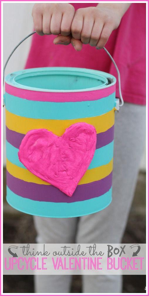 Upcycle Valentine Bucket Valentine S Day With Joann Pinterest