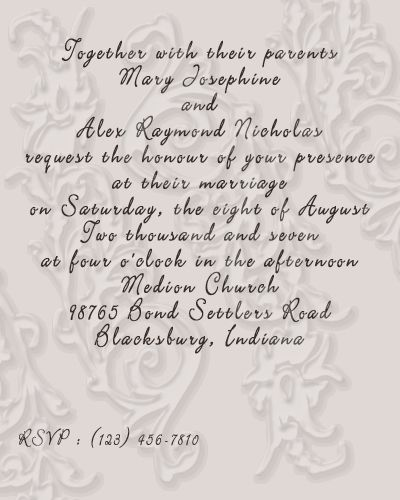 Wedding invitations wording wedding love pinterest invitation proper wording on a wedding reception invitation filmwisefo Images
