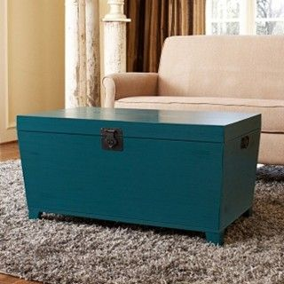 Angelo Home Turquoise Pyramid Trunk Coffee Table