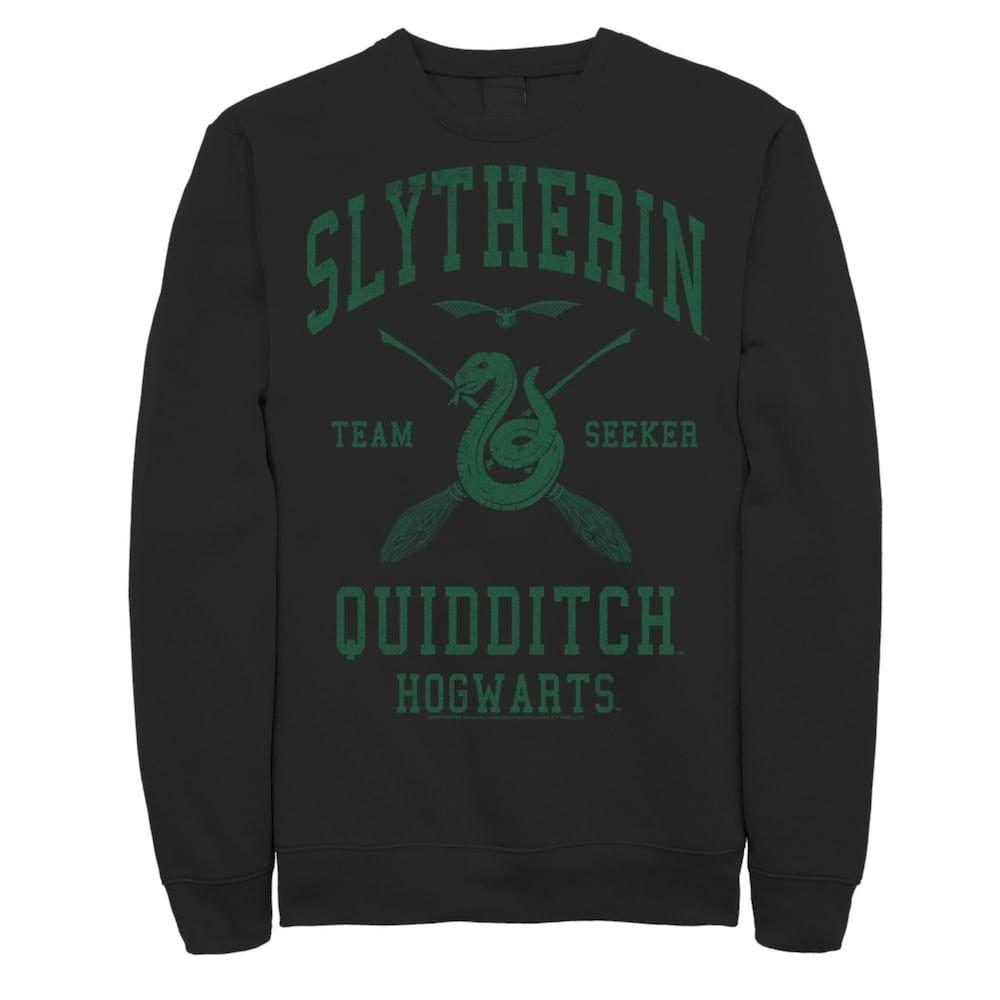 Men S Harry Potter Slytherin Team Seeker Text Sweatshirt En 2021 [ 1000 x 1000 Pixel ]