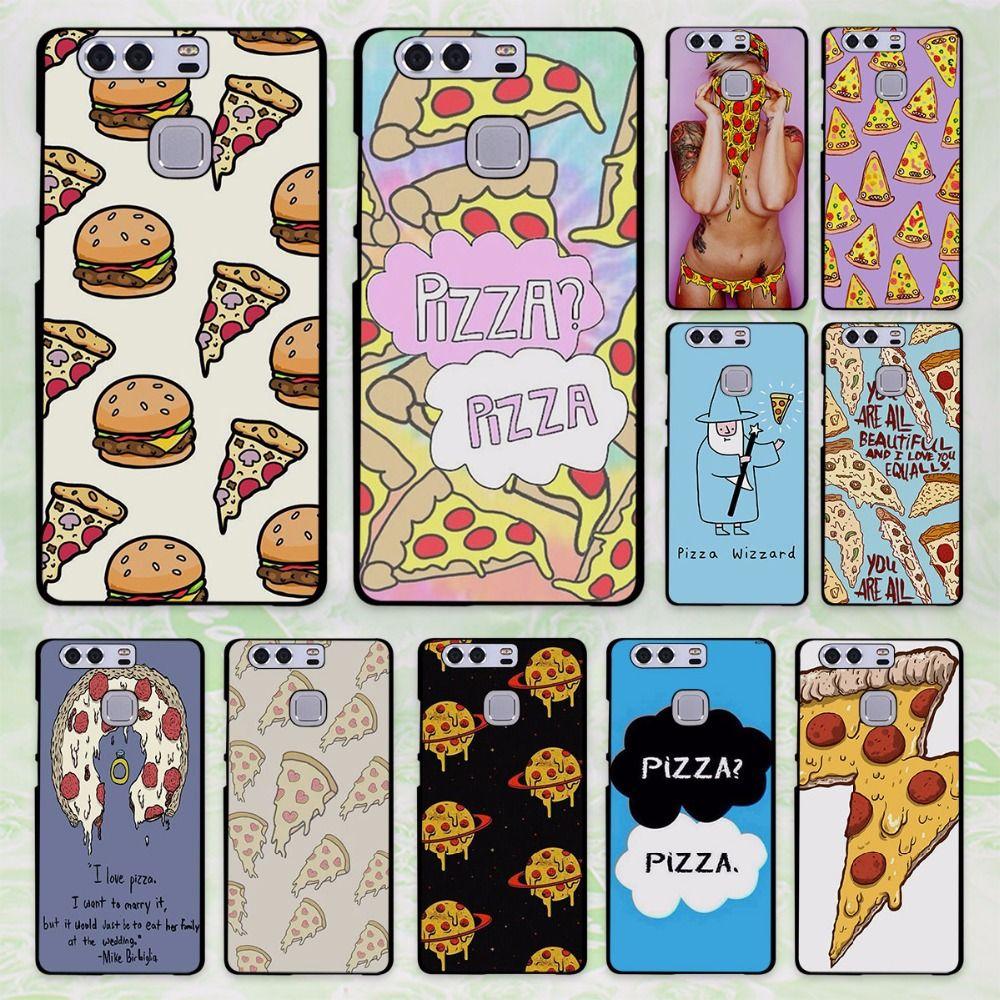 pink pizza I love pizza design hard black Case Cover for Huawei P8 P9 lite P9 Plus P7 Mate9 Mate8 Mate S