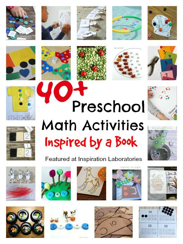 40 Preschool Math Activities Inspired By A Book Inspiration
