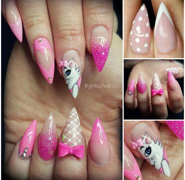 Acrylic gel nail art   Decoración de uñas   Pinterest   Arte uñas ...
