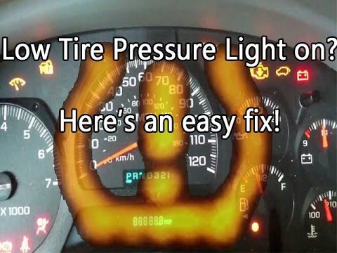 Low Tire Pressure Light On Here S An Easy Fix Chevy Trailblazertpms Chevy Trailblazer Trailblazer Chevy