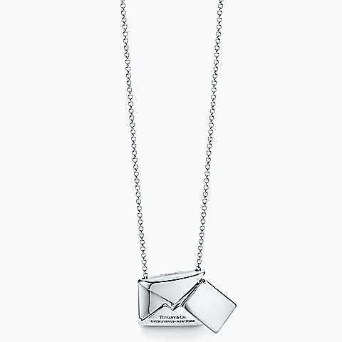 68b5cba2d Tiffany Charms Sweet Nothings envelope pendant in sterling silver ...