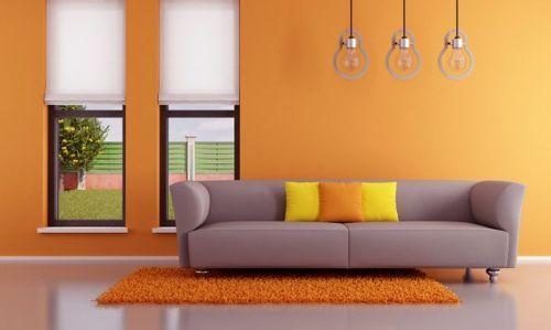 Sala moderna de color naranja deco pinterest color for Ideas para decorar mi sala moderna