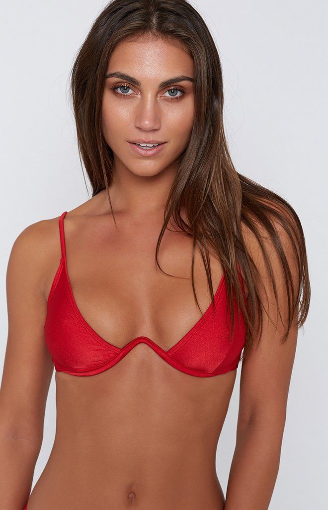 1691b307bb 9.0 Swim Montego Underwire Bikini Top Metallic Red