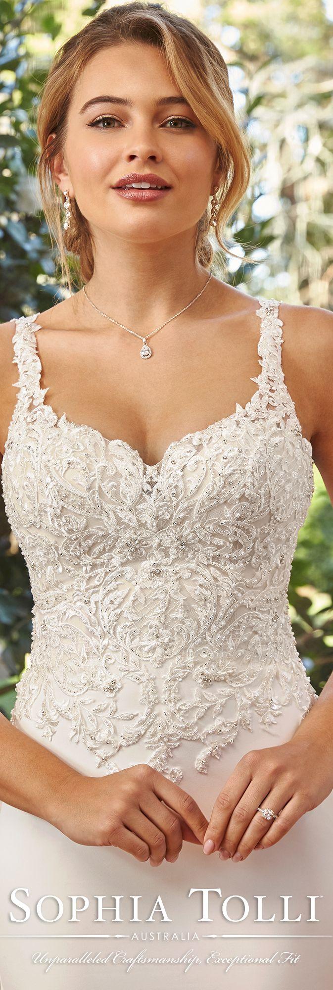 2d7ed1c94a3d Stretch Satin Tulle   Lace Trumpet Wedding Dress- 11941B Nicola ...