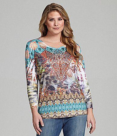 Reba Woman Sublimation Knit Sweater #Dillards