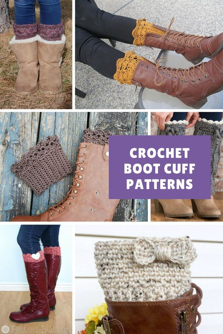 11 Stylish Boot Cuff Crochet Patterns to Add Some Feminine Flair to ...